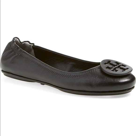 77d47ae3d355 Tory Burch Shoes - TORY BURCH MINNIE TRAVEL BALLET FLAT SZ 8